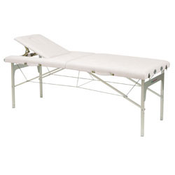 Table pliante Shiatsu avec trou visage - Blanc