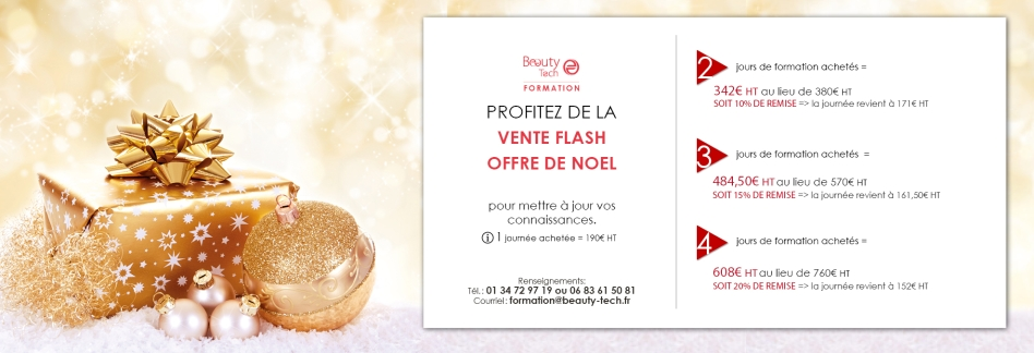 Beauty Tech Formation - Vente Flash Offre de Noel